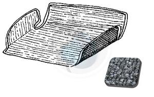 tapijtset in koffer vw 1200-1300 na 68 grijs, image 1