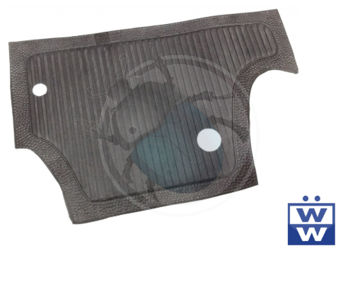 Rubber mat achter pedalen van 60 tot 65 zwart, image 1
