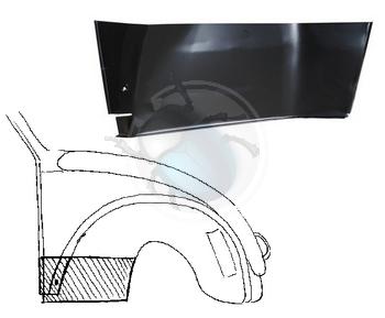 plaat achter voorwiel vw 1300 rechts, image 1