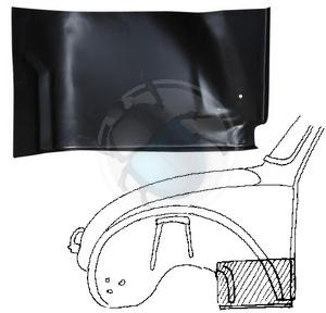 plaat achter voorwiel vw1302 & 1303 links, image 1
