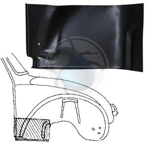 plaat achter voorwiel vw 1302 & 1303 rechts, image 1