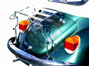 Vw kever bagagerekje op achterklep cabrio met hout, image 1