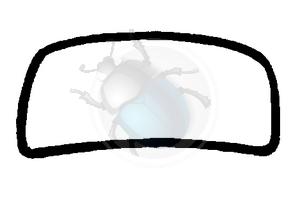 voorruit rubber callook na 65 bq, image 1