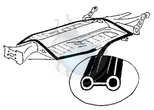 rubber tussen chassis & carrosserie, image 1