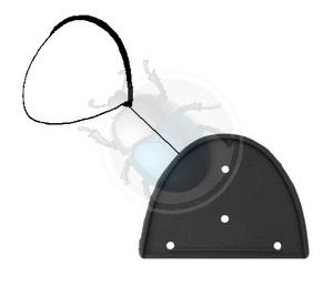nummerplaat verlichting rubber van 59 tot 63, image 1