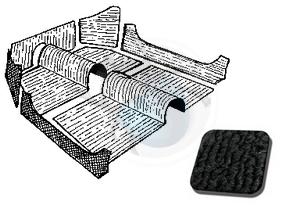 tapijtset cabrio van 58 tot 69 zwart, image 1
