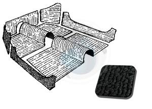 tapijtset cabrio van 70 tot 72 zwart, image 1