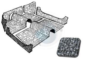 tapijtset cabrio van 70 tot 72 grijs, image 1