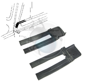 rubber onder tochtruit frame van 54 tot 64, image 1