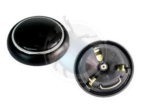 claxon drukknop zwart van 56 tot 59 zonder logo, image 1