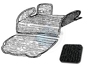 tapijtset in koffer vw 1303 zwart, image 1