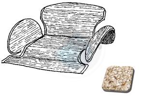 tapijtset in kattebak van 54 tot 57 oatmeal, image 1