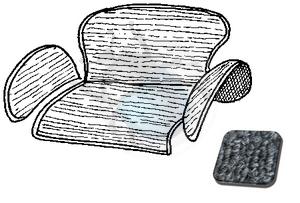 tapijtset in kattebak van 58 tot 64 grijs, image 1