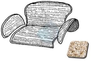 tapijtset in kattebak van 58 tot 64 oatmeal, image 1