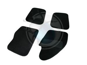 vloermatten set 4 stuks zwart, image 1