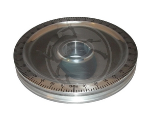 krukas poelie aluminium zwart zonder gaten, image 1