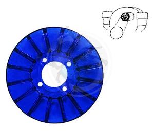 Dynamo poelie cover blauw, image 1