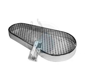 v-snaar beschermkap chroom met grill, image 1