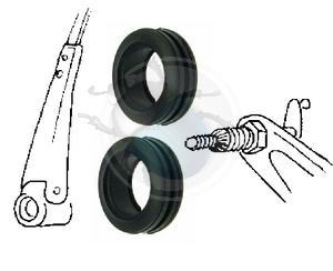 Vw ruitenwisser as doorvoer rubber van 70 tot 79, image 1